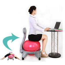 image of yoga ball as desk chair size veet