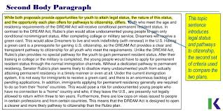 analyzing compare and contrast essays policies for undocumented youth 12 second body paragraph