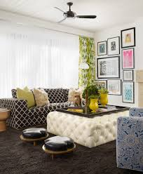 dark grey carpet Family Room Contemporary with black and white sofa. Image  by: Pal Smith