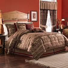 Bedroom: California King Size Bedspread Sets With Stacked Ball ... & California king bedspread sets with crimson paint color and armchiar also  wooden upholstered headboards for modern Adamdwight.com