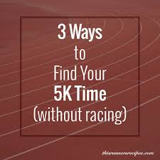 5k Timing Chart 5k Pace Calculator Workouts