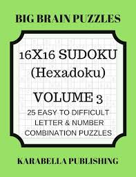 Sudoku Number Combinations Chart Hexadoku Sudoku 16x16 16x16 Sudoku Sudoku Print Mega