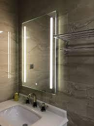 Lighted Bath Vanity Mirrors Us 200 0 Waterproof Wall Mount Led Lighted Bathroom Mirror Vanity Defogger 2 Vertical Lights Rectangular Touch Light Mirror Bath Mirrors In Bath