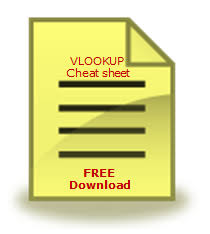 Free Excel Vlookup Formula Cheat Sheet Download Today