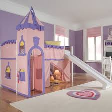 School House Twin Princess Low Loft Bed with Slide | Wayfair $755.