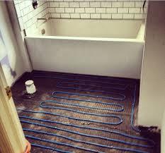 heated bathroom flooring. Installing Heated Bathroom Floors Flooring