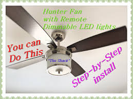 how to install a ceiling fan with remote hunter 52 kimball series model 59206 you