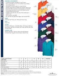 Monogram Size Chart Cr Adult Classic Solid Pullover Size Chart Rising Stars