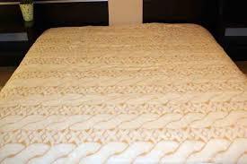 cashmere wool bedding braid duvet sizex200 2 pillows 45 75