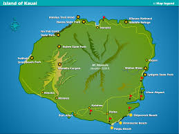 kauai vacation map  poipu beach  poipu kai resort  suite paradise