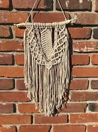 cotton macrame wall hanging nursery boho chic hippie retro eclectic wall art wall decor gift for