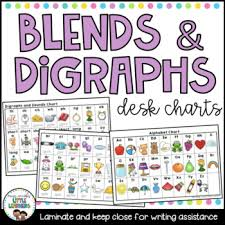 Blend And Digraphs Charts Worksheets Teaching Resources Tpt