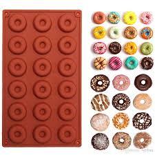 <b>1pc 18</b> Mini Silicone <b>Doughnut</b> Baking Molds Cake Chocolate ...