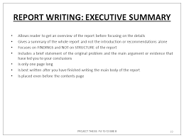 Writing Executive Summary Template Dissertation Executive Summaries Write Dissertation Executive Summary