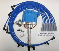 amc 304 distributor amc jeep 1967 90 290 304 343 360 390 401 hei distributor blue spark plug wires