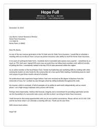 Insurance Agent Cover Letter