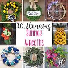 30 stunning summer wreaths to or diy