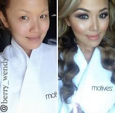 cheek contour before and after. amazing before / after contouring and make up photo - power brows, smokey eye, contour cheeks on asian skin ❤️ cheek b