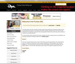Navigating The New Owl Site Purdue Writing Lab