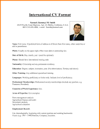 Sample Resume For Abroad Format New Resume Format For Overseas Job