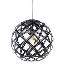 Moderne Zwarte Hanglamp Emma ø 40cm 9540z