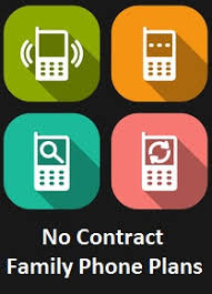 No Contract Family Cell Phone Plans Comparison Chart