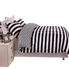black and white duvet covers. Delighful Black NTBAY 3 Pieces Duvet Cover Set Black And White Stripe Printed Microfiber  Reversible DesignFull For And Covers