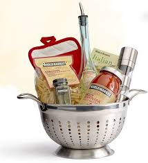 pretty food gift basket diy use a colander for a foo gift via world market