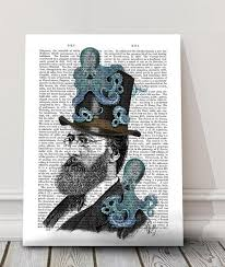 doctor octopus print nautical print steunk octopus funny office décor cute gift for boyfriend geek groomsmen gift funny art print