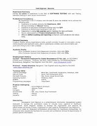 Sample Resume For Entry Level Manual Qa Tester New Amazing Sample
