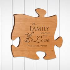 on personalized wall art wood with our family grows with love personalized wood puzzle wall art