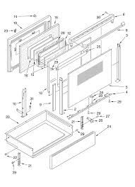 glp84900 free standing electric range door and drawer parts diagram oven chassis parts diagram
