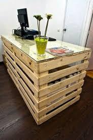 pallet furniture desk. pallet kiosk for welcomevisitor center furniture desk