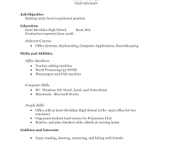 No Work Experience Resume Exceptional Samples Teenage Template ...