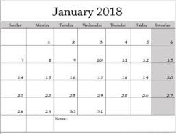 calendar january 2018 template cute january 2018 calendar printable