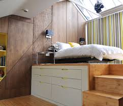 Wonderful Bedroom Furniture Small Spaces. Beautiful Colorful Striped Wallpaper Of Small  Bedroom Design With Loft Bed