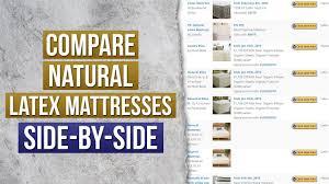 The Ultimate Natural Mattress Comparison Chart