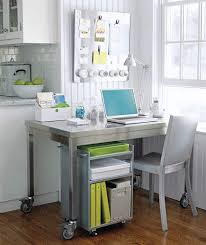 simply organized home office. home office in corner of kitchen simply organized