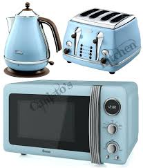 Retro Toasters all stainless steel kettle blue microwave kettle and toaster set 8782 by xevi.us