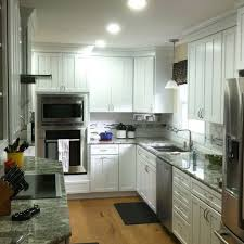 White Shaker Style Kitchens New Kitchen Construction With White Kraftmaid Cabinets Rotella
