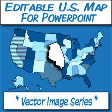 Usa Map For Powerpoint Editable U S A Map Clipart For Powerpoint Vector Image Series