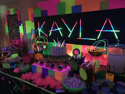 Created this dessert/candy buffet and decor for my daughter Kayla's 11th  birthday.