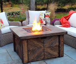global outdoors faux wood fire table