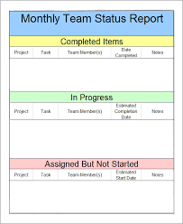 weekly report format in excel free download sample status report template free business template