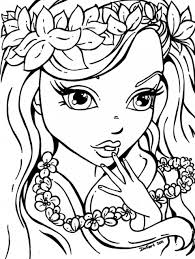 Small Picture Pretty coloring pages of girls ColoringStar