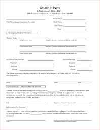 Medical Information Forms Templates Magdalene Project Org