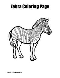 Free printable zebra coloring pages for kids. Printable Zebra Coloring Page Worksheet By Lesson Machine Tpt