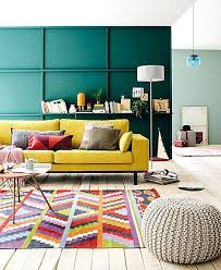 bright colored furniture. green wall yellow sofa and bright colored carpet picsdecorcom furniture s