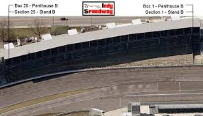 B Stand Seating Chart Indy Speedway