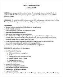 Cna Duties Resume Classy Nursing Assistant Job Description Resume From Job Duties Cna Free